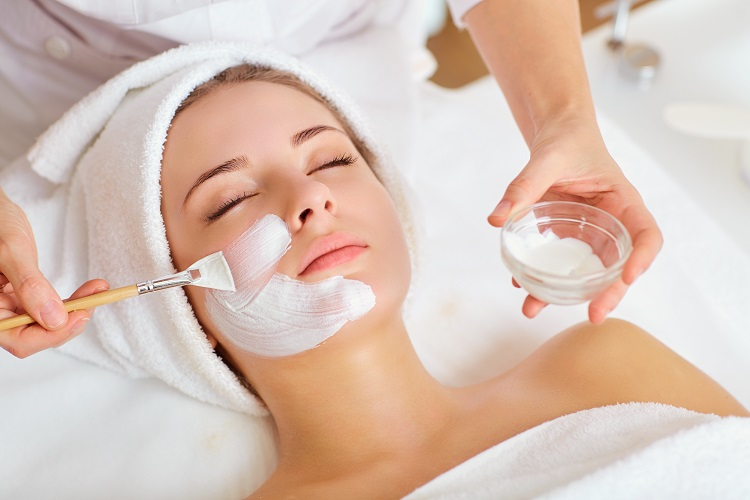 woman receiving a personalized beauty care treatment for preventive care