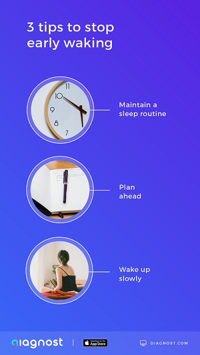 3 tips to stop early waking - diagnost
